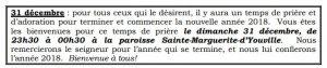 Soirée de prière @ PAROISSE SAINTE MARGUERITE D'YOUVILLE